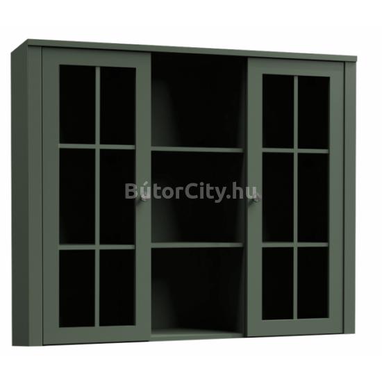 Provance vitrines rátét szekrény (W2D) zöld