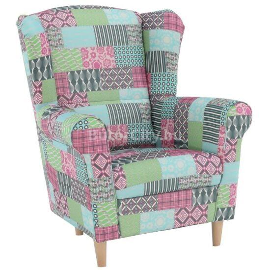 Charlot fotel patchwork M1 szövettel
