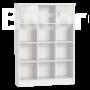 Kép 1/3 - Alda jégfehér széles nyitott tároló