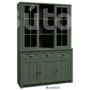 Kép 2/4 - Provance vitrines rátét szekrény (W2D) zöld