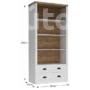 Kép 2/4 - Provance nyitott polcos fiókos szekrény (R2) andersen